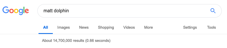 Google Matt Dolphin