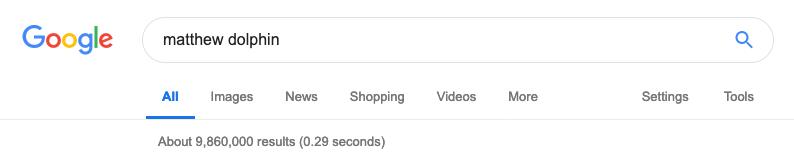 Google Matthew Dolphin